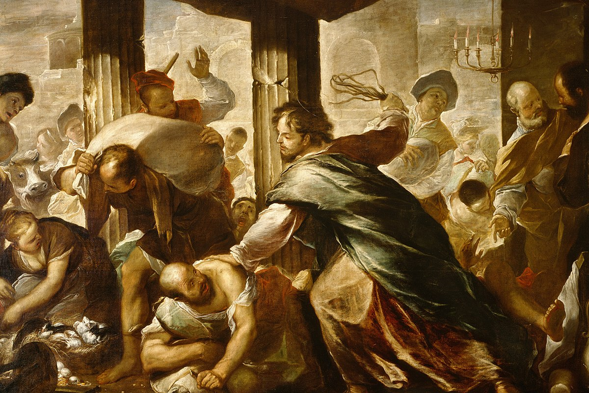 Luca Giordano - Christ Cleansing the Temple - WGA09000.jpg