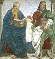Luca signorelli, loreto, sagrestia della cura, coppia di apostoli 02.jpg