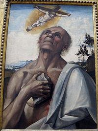 Luca signorelli (attr.), san girolamo penitente in estasi, 1505-10 ca. 02.JPG
