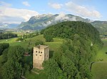 Luftaufnahme Burgruine Blatten, Oberriet Schweiz.jpg