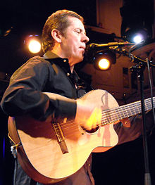 Photo of Luka Bloom performing on stage