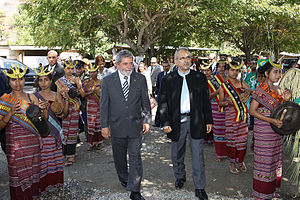 José Ramos-Horta - Ramos-Horta with Brazilian President Luiz Inácio Lula da Silva, 2008