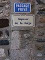 Lussas - Impasse de la Forge, plaque.jpg