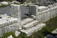 The side doorway to the cella of the temple of Despoina.