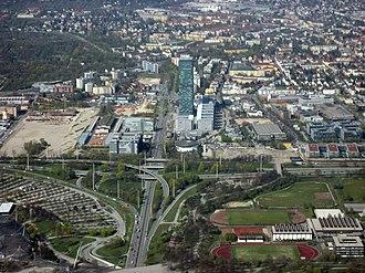 Moosach (Munich) - Image: München Moosach (Luftbild)