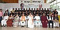 M. Venkaiah Naidu with the volunteers of Muskaan Foundation at an event to launch 100 Digital Classrooms in 75 Rural Government Schools in Gwalior district under 'Mera School Digital School' programme by Muskaan Foundation.JPG