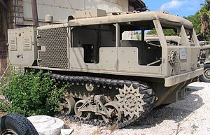 Ein M4 High-Speed Tractor im Batey ha-Osef Museum in Tel Aviv