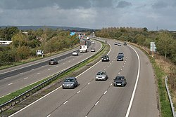 Der Motorway in Devon