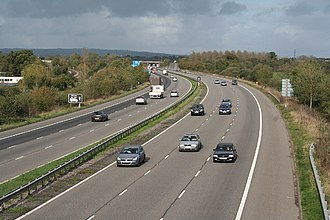 M5 motorway - The M5 near Junction 28, Devon