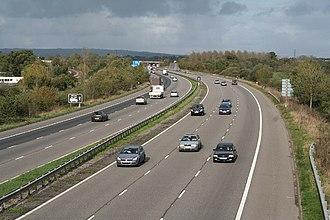 M5 motorway - The M5 near Junction 28, Devon