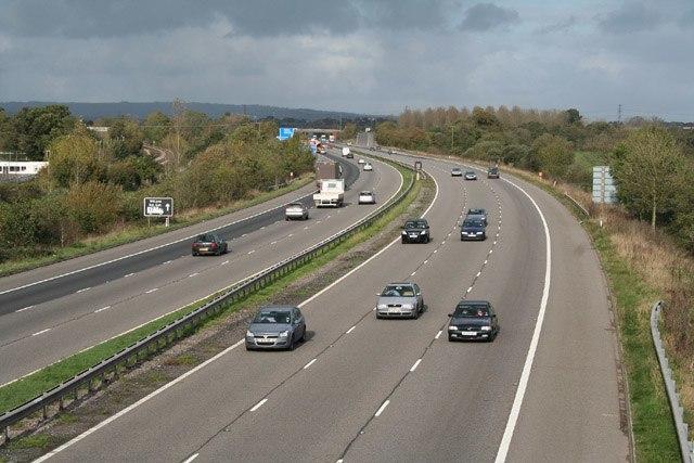 M5 motorway, Cullompton