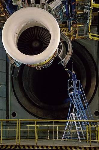General Electric CF6 - A CF6 turbofan installed on a testbed