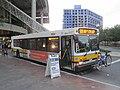 MBTA route 608 bus at Haymarket, July 2015.JPG