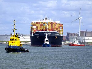 MSC Pamela p04, at the Amazone harbour, Port of Rotterdam, Holland 29-Jul-2007.jpg