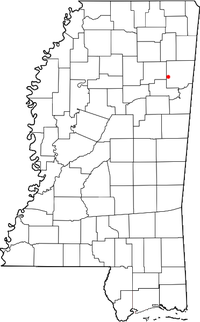 Location of Gibson, Mississippi