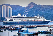 MS Amsterdam passing through Lei Yue Mun.jpg