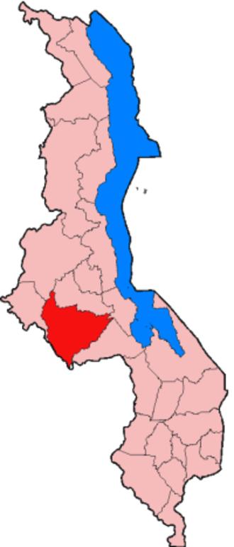 Lilongwe District - Location of Lilongwe District in Malawi