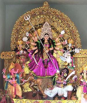 Godess durga during dussserah festival in bbsr