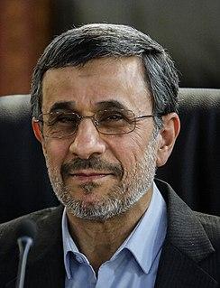 Mahmoud Ahmadinejad 6th President of Iran from 2005 to 2013
