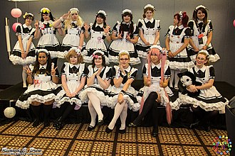 Anime Midwest - Image: Maids at the Maid Cafe at Anime Midwest 2014