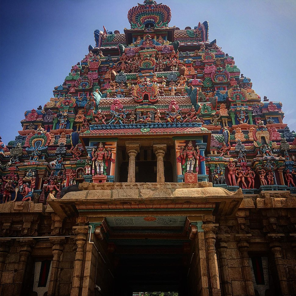 Main Gate of Meenakshi temple, Madurai