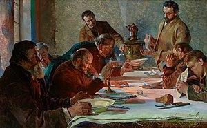 Sybirak - Christmas Eve in Siberia, by Jacek Malczewski.