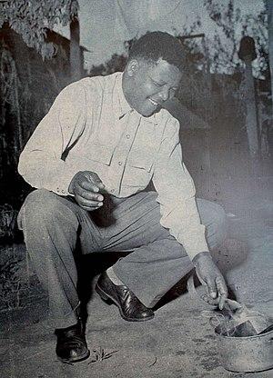 Internal resistance to apartheid - Image: Mandela burn pass 1960