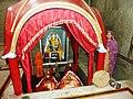 Mandi - Mata Kuan Rani Temple shrine and attendant.jpg