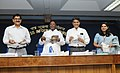 Manish Tewari and the Minister of State for Personnel, Public Grievances & Pensions and Prime Minister's Office, Shri V. Narayanasamy released five Documentary Films on good governance initiatives.jpg