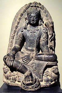 Manjusri Kumara (bodhisattva of wisdom), India, Pala dynesty, 9th century, stone, Honolulu Academy of Arts.jpg