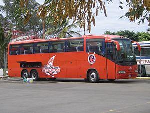 Mannschaftsbus des CD Veracruz