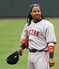 Ramírez podczas gry w Boston Red Sox