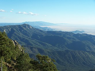 Manzano Mountains - View of the Manzano Mountains from the north