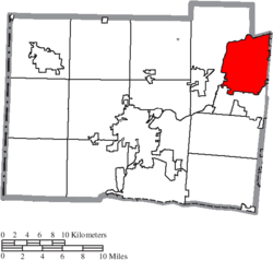 Location of Middletown in Butler County