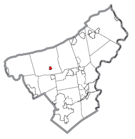 Map of Chapman, Northampton County, Pennsylvania Highlighted.png