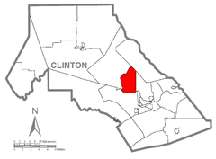 Map of Colebrook Township, Clinton County, Pennsylvania Highlighted.png