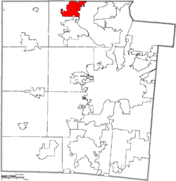 Location of Union in Montgomery County