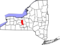 Locatie van Seneca County in New York