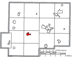 Location of Kalida in Putnam County