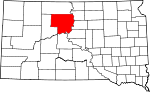 State map highlighting Dewey County