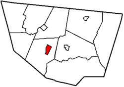 Map of Sullivan County, Pennsylvania highlighting Eagles Mere