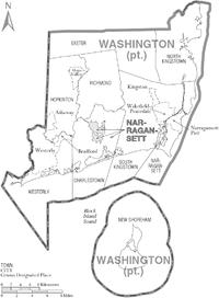 Washington County Rhode Island Wikipedia - Rhode island county map