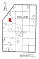 Map of West Liberty, Butler County, Pennsylvania Highlighted.png