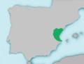 Mapa Barbus guiraonis.png