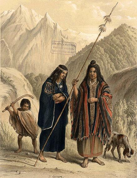 Mapuches del siglo XIX.