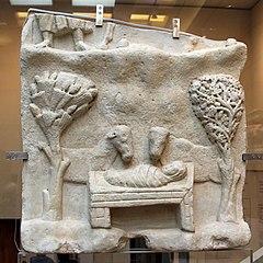 Πλάκα με παράσταση της Γέννησης (Βυζαντινό Μουσείο Αθηνών)