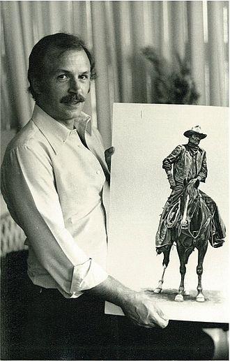 Albert Uderzo - Image: Marcel Uderzo draws John Wayne