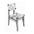 Marcel Gascoin 1942 chaise C paillée.jpg