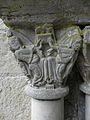 Marcilhac-sur-Celé (46) Abbaye Salle capitulaire Chapiteau 05.JPG