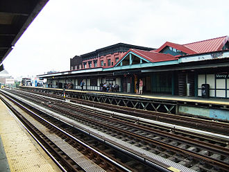 Marcy Avenue (BMT Jamaica Line) - Manhattan-bound platform